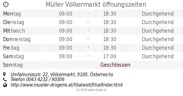 müller öffnungszeiten völkermarkt