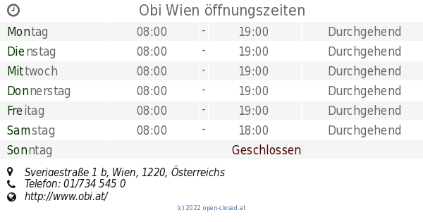 Wien Kagran Obi öffnungszeiten Wwwgenialfotocom
