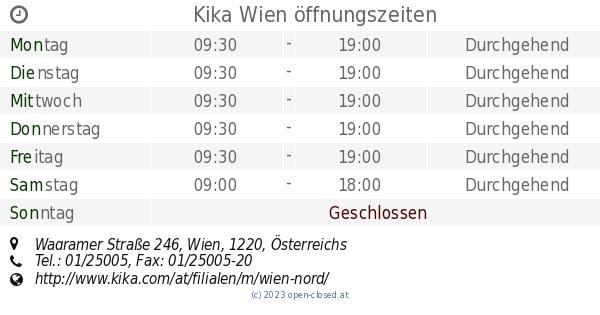 Kika Wien öffnungszeiten Wagramer Straße 246