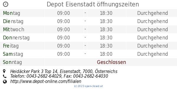 Depot Eisenstadt öffnungszeiten Heidäcker Park 3 Top 14