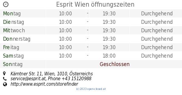Esprit Wien öffnungszeiten Kärntner Str 11