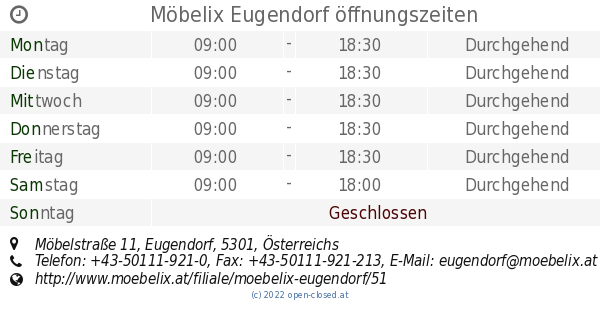 Möbelix Eugendorf öffnungszeiten Möbelstraße 11