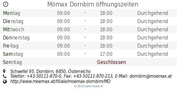 Mömax Dornbirn öffnungszeiten Schwefel 95